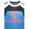 Cube Action Team Rundhalstrikot kurzarm Junior blue'n'white'n'red